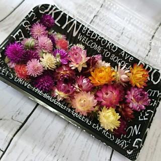 【詰め合わせ❥】ドライフラワー♡千日紅&貝細工 50個 プリザーブド 花材 お花(ドライフラワー)