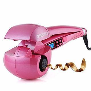 【送料無料】ピンクが可愛いオートカール ミラーカール(ヘアアイロン)