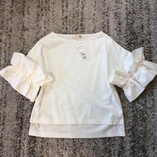 クリアインプレッション(CLEAR IMPRESSION)のクリアインプレッションミュゼ 袖フリルカットソー(カットソー(半袖/袖なし))