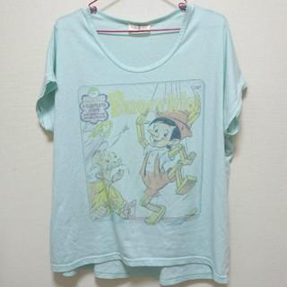 アメリカンレトロ(AMERICAN RETRO)のTシャツ ピノキオ 水色 アメリカンレトロ でかT ゆったり(Tシャツ(半袖/袖なし))