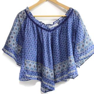 サカイラック(sacai luck)のsacai luckスカーフ柄トップス◆mm6 muveil(シャツ/ブラウス(半袖/袖なし))