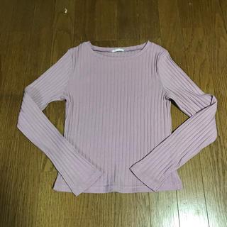 ジーユー(GU)のGU リブニット トップス(Tシャツ(長袖/七分))
