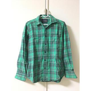 ユニクロ(UNIQLO)のグリーンチェックシャツ(シャツ/ブラウス(長袖/七分))