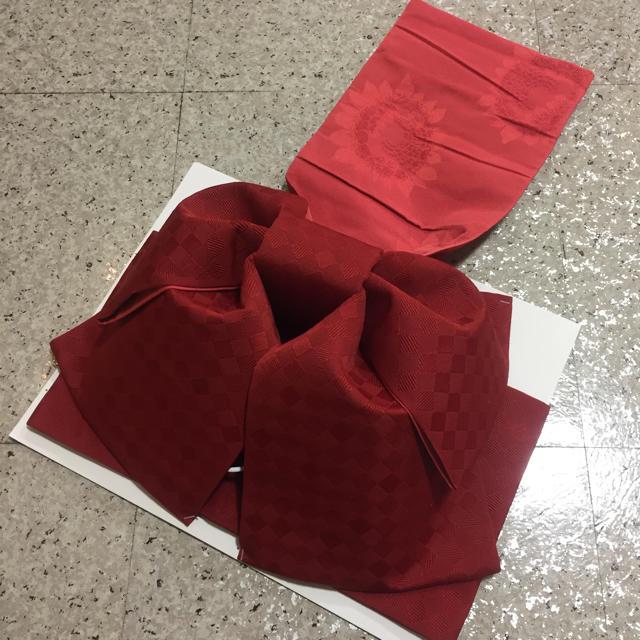 ★現品限り★新品 赤系 作り帯 レディースの水着/浴衣(浴衣)の商品写真