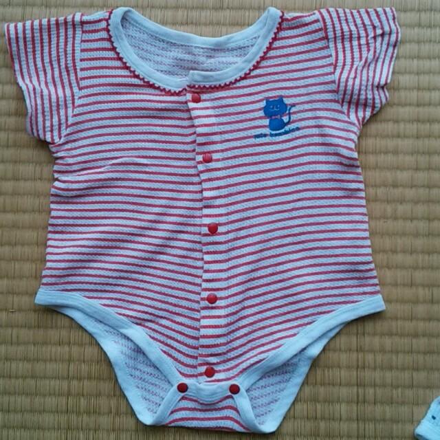 西松屋(ニシマツヤ)のベビー 肌着 キッズ/ベビー/マタニティのベビー服(~85cm)(肌着/下着)の商品写真