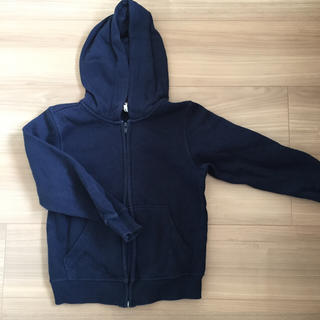 エイチアンドエム(H&M)のH&M パーカー 紺色(ジャケット/上着)