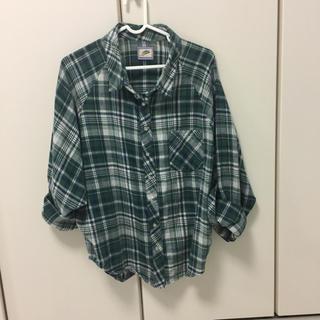 緑 グリーン チェック ドルマン シャツ(シャツ/ブラウス(長袖/七分))