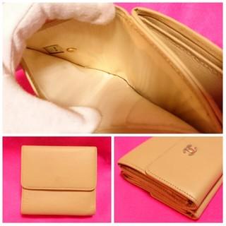 CHANEL(シャネル)のきれい正規品【シャネル】Wホック財布*ベージュ レディースのファッション小物(財布)の商品写真