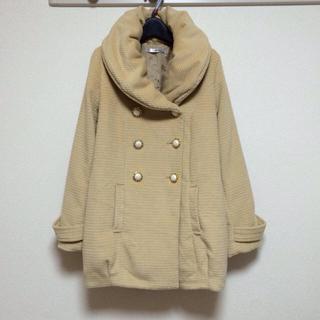 ユメテンボウ(夢展望)のボリューム襟 エッグシルエットコート(スプリングコート)