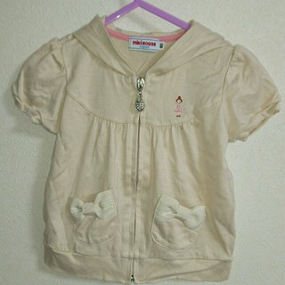 ミキハウス(mikihouse)のミキハウスリーなちゃん半袖パーカー70-80(シャツ/カットソー)