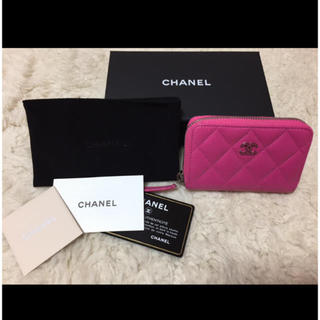 CHANEL(シャネル)の未使用に近い CHANEL コインケース ピンク レディースのファッション小物(財布)の商品写真