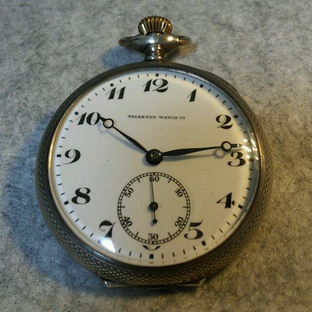 オススメ美品 TAVANNES アンティーク 懐中時計 手巻き シルバー メンズの時計(腕時計(アナログ))の商品写真