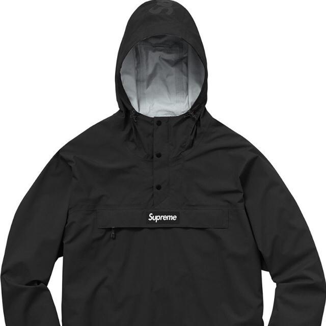 Supreme(シュプリーム)の黒S【17SS】Supreme Taped Seam Anorak メンズのジャケット/アウター(マウンテンパーカー)の商品写真