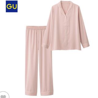 ジーユー(GU)の新品 Lサイズ GU  サテンパジャマ(ピンク)(パジャマ)