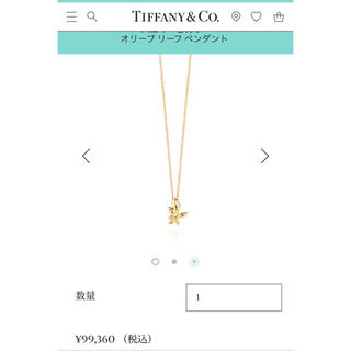 detailed look d8f5f 0eaed (美品・送料込)Tiffany オリーブネックレス