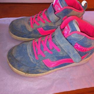ヴァンズ(VANS)のデニム シューズ 靴 ピンク VANS(スニーカー)
