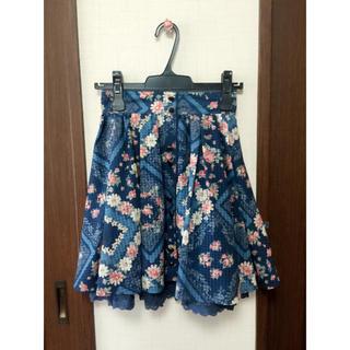 リズリサ(LIZ LISA)のLIZ LISA バンダナ柄スカート【ネイビー】(ひざ丈スカート)