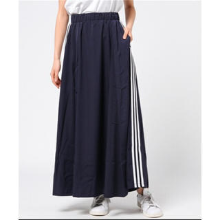アディダス(adidas)のadidas originals 3stripes ロングスカート(ロングスカート)