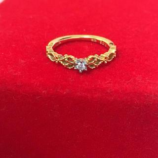 アガット(agete)のアガットクラシックK18ダイヤモンドピンキーリング(リング(指輪))