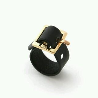 グレイル(GRL)の【未使用】  ベルトデザイン リング  ブラック(リング(指輪))
