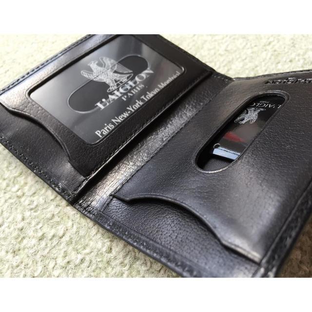 新品未使用メンズパスケースブラックレザー メンズのファッション小物(名刺入れ/定期入れ)の商品写真