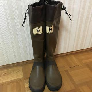 野鳥の会 レインブーツ L ブラウン24.5 25.0(レインブーツ/長靴)