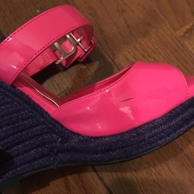 SLY(スライ)のSLY ジュートウエッジエナメルサンダル レディースの靴/シューズ(サンダル)の商品写真