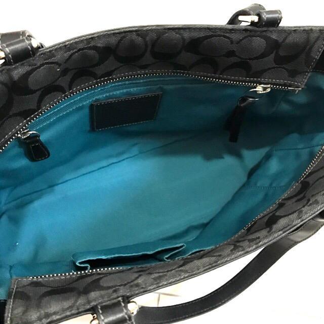COACH(コーチ)のCOACH♡トートバッグ♡ブラック×グリーン♡ レディースのバッグ(トートバッグ)の商品写真