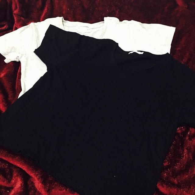 グレー&ブラック☆Tシャツ2枚 レディースのトップス(Tシャツ(半袖/袖なし))の商品写真