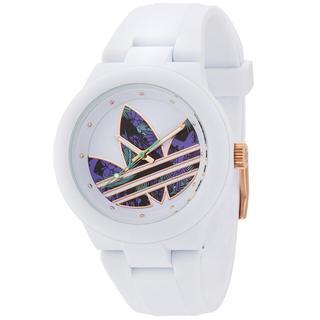 アディダス(adidas)のアディダス adidas スポーツウォッチ  ホワイト/白・ローズゴールド(腕時計)