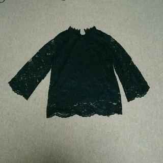 カクタス(CACTUS)のairm様専用  黒レーストップス(カットソー(長袖/七分))