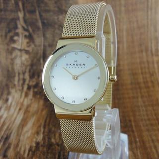 スカーゲン(SKAGEN)の新品 スカーゲン 腕時計 レディース 358SGGD ゴールド 仕事用 おすすめ(腕時計)