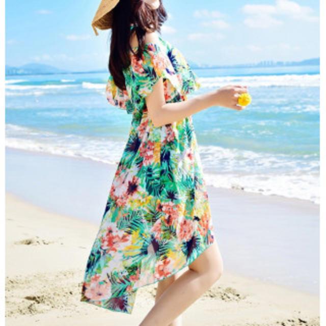 【新作】可愛い水着 3点セット グリーン レディースの水着/浴衣(水着)の商品写真