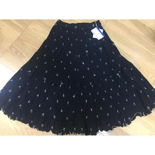 ツモリチサト(TSUMORI CHISATO)のツモリチサト フレアスカート☆黒(ひざ丈スカート)