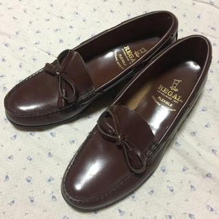 リーガル(REGAL)の美品 REGAL 25㎝ リボンタッセル ローファー ブラウン(ローファー/革靴)