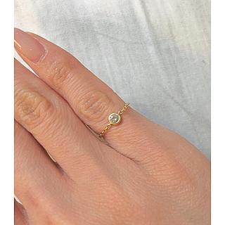 今週末限定価格‼️18金ダイヤモンドチェーンリング(リング(指輪))