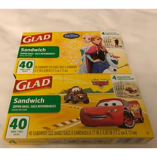 ディズニー(Disney)の【新品 未開封】GLAD サンドイッチ バッグ アナと雪の女王 カーズ(おもちゃ/雑貨)