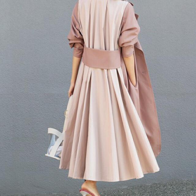 Ameri VINTAGE(アメリヴィンテージ)のAMERVINTAGE  アメリヴィンテージ フリルJK  ピンク レディースのジャケット/アウター(トレンチコート)の商品写真