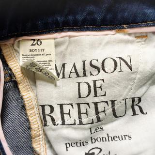 Maison de Reefur(メゾンドリーファー)の【美品】メゾンドリーファー ボーイフィット クロップドデニム レディースのパンツ(デニム/ジーンズ)の商品写真