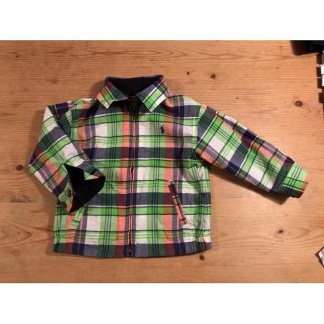 キッズ POLO ラルフ  紺✕グリーン リバーシブルジャケット ハンドメイドのファッション小物(スカーフ)の商品写真