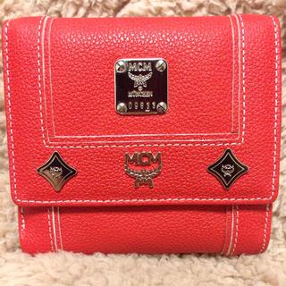 エムシーエム(MCM)のMCM♡レッド二つ折財布♡新品送込(財布)
