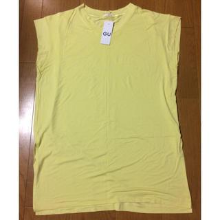 ジーユー(GU)の新品、未使用  GU 袖なしTシャツ(Tシャツ(半袖/袖なし))