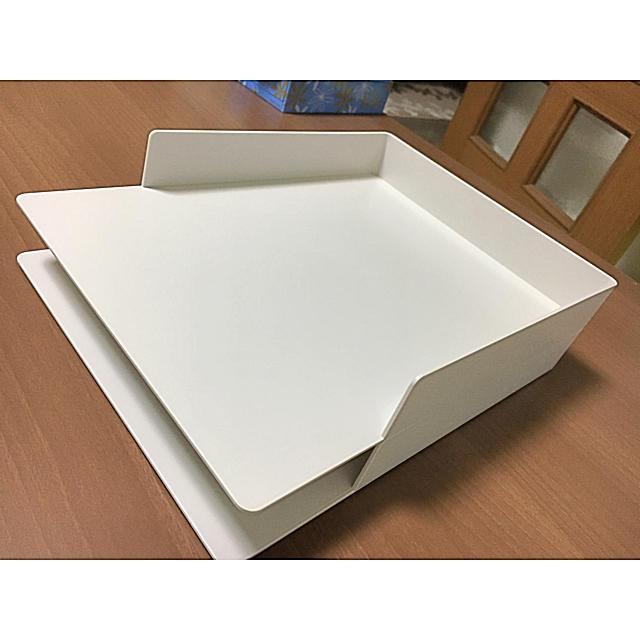 MUJI (無印良品)(ムジルシリョウヒン)の無印良品 A4書類トレー A4サイズ用 二個セット インテリア/住まい/日用品の文房具(ファイル/バインダー)の商品写真