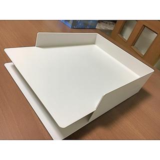 ムジルシリョウヒン(MUJI (無印良品))の無印良品 A4書類トレー A4サイズ用 二個セット(ファイル/バインダー)