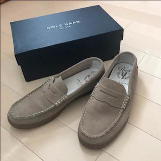 コールハーン(Cole Haan)のコールハーン ローファー スエード ベージュ メンズ 靴 9.5    ドルガバ(ドレス/ビジネス)