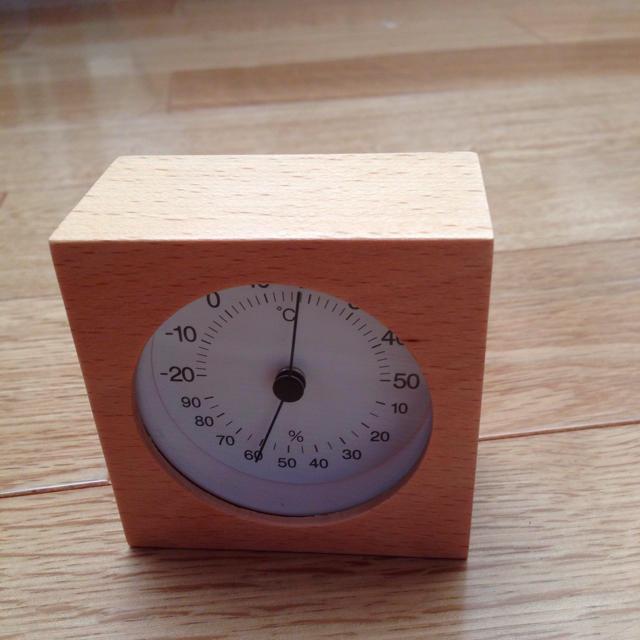 MUJI (無印良品)(ムジルシリョウヒン)の無印良品 ブナ材温湿度計 その他のその他(その他)の商品写真