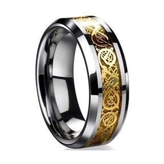 ドラゴンデザイン指輪 ステンレス リング 16 【ゴールド】 男女兼用 (リング(指輪))