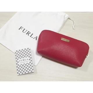 9ee4bb97dbbe Furla - 新品 FURLA ポーチ 赤 メイク 小物 ケース 半額の通販|ラクマ