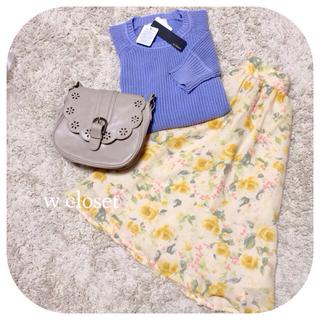 ダブルクローゼット(w closet)のw closet ニット&スカート♡(ニット/セーター)