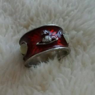 ヴィヴィアンウエストウッド)赤 キングリング サイズM 指輪(リング(指輪))